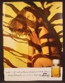 Magazine Ad For Faberge Tigress Perfume, Fragrance, Sexy Woman In Tiger Stripe Shadows, 1966