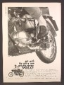 Magazine Ad For Moto Guzzi 125cc Sport Motorcycle, Get With The Gutsy One, 1966