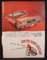 Magazine Ad For Dodge Coronet 500 Convertible Car, Front & Side View, 1966, 8 3/8 by 11