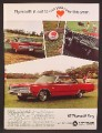 Magazine Ad For 1967 Plymouth Fury, Golf Outing,, Side & Rear Views, Interior, 1966