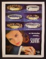 Magazine Ad For Swank Jewelry, Bracelets With Engraving Plates, 6 Models, 8 3/8 by 11