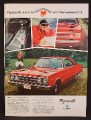 Magazine Ad For Plymouth Belvedere GTX Car, Front Side & Rear Views, 1967, 8 1/4 by 11