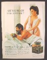 Magazine Ad For Centaur Massage Cologne, Sexy Greek Woman Giving A Massage, 1967