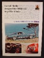Magazine Ad For Carroll Shelby Cobra GT 350, Blue Side View, 1967, 8 1/4 by 11