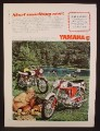 Magazine Ad For Yamaha Twin Jet 100 Motorcycle, Couple By The Lake, 1967, 8 3/8 by 11