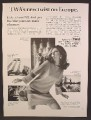 Magazine Ad For TWA Airlines, Twist On Europe, Pretty Woman Dancing The Twist, 1967