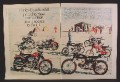 Magazine Ad For Harley Davidson Motorcycles, Complete Line, All The Models, 1968, Double Page