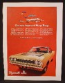 Magazine Ad For Plymouth Roadrunner Car, New Improved Beep Beep, Front & Side View, 1968