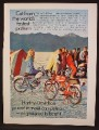 Magazine Ad For Harley Davidson M-65 Sport Motorcycles, Tents on Salt Flats, M65, 1968