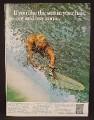Magazine Ad For Sudden Summer Hair Lightener For Men, Surfer On Long Board, 1968
