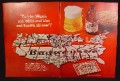 Magazine Ad For Budweiser Beer, Stubby Bottle, Coaster Puzzle Map Of The USA, 1968