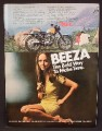 Magazine Ad For BSA Victor Special Motorcycle, Sexy Beeza Girl, Bold Way To Make Time, 1969