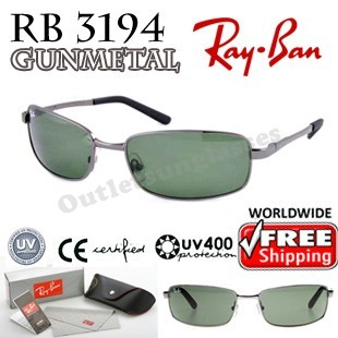 ray ban rb3269  Rayban Ray Ban RB 3194 RB3194 62MM Gunmetal 004 - Outletsunglasses