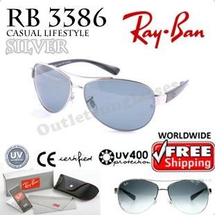 rayban 3386 bum3  Rayban Ray Ban RB 3386 RB3386 63MM Silver 03 Sunglasses
