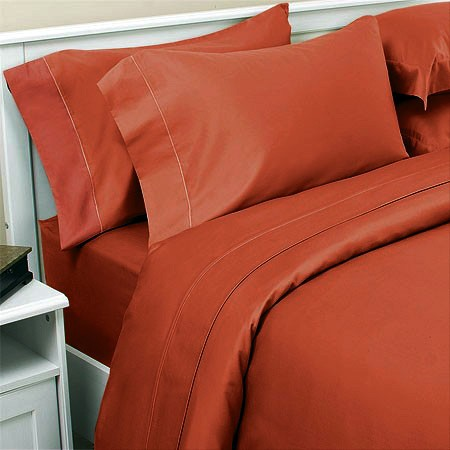 Burnt Orange - Bed Sheets Set - Nique Bedding