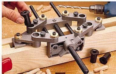 Wooden dowel drilling jig