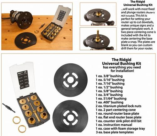 how to use router template guide bushings - router template guide bushing baseplate set for porter