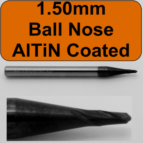 1.50mm AlTiN Coated Ball Nose End Mill
