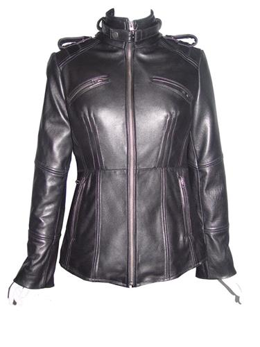 Woman Tall & All Size 4205 Custom Leather Motorcycle Jackets Ladies Genuine Lambskin
