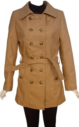 Woman Tall & All Size 5017 Fitted Clean Leather Pea Coats ...