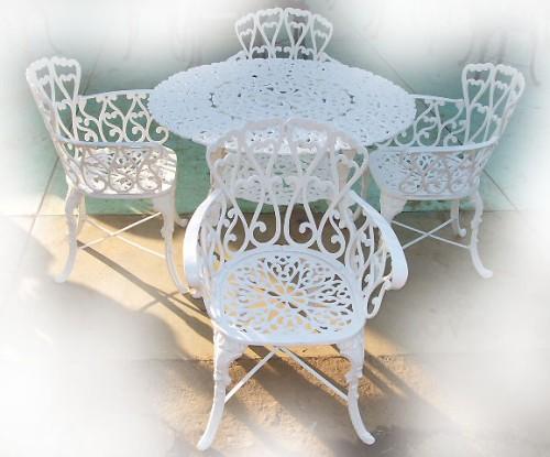 Muebles de jardin comedor para exteriores mexico rustico for Muebles aluminio para exterior