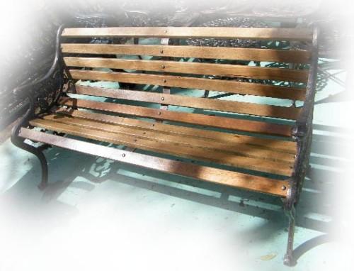 muebles de exterior banca para terraza y jardin