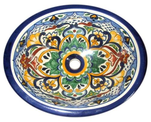 Lavabos Para Baño México:lavabo de bano: lavadero ovalin en talavera majolica – mexico rustico