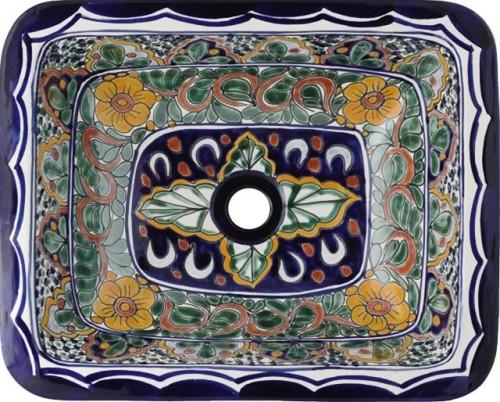 Lavabos Para Baño De Talavera:lavabos en talavera: lavabo pintado a mano rectangular – mexico