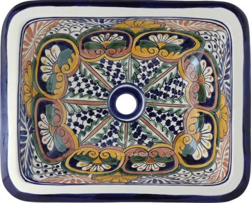 Lavabos Para Baño México:lavabos en talavera: lavabo pintado a mano rectangular – mexico