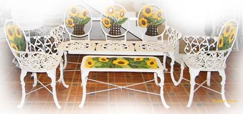 muebles de exterior banca sillas mesa para jardin