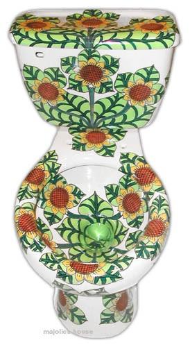 Azulejos Para Baño Pintados A Mano:banos de talavera: sanitario WC majolica pintado a mano – mexico