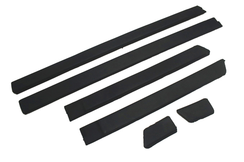Side door rub strip moulding trim set 4 doors thick version jetta mk2 oriental parts Plastic molding for exterior doors