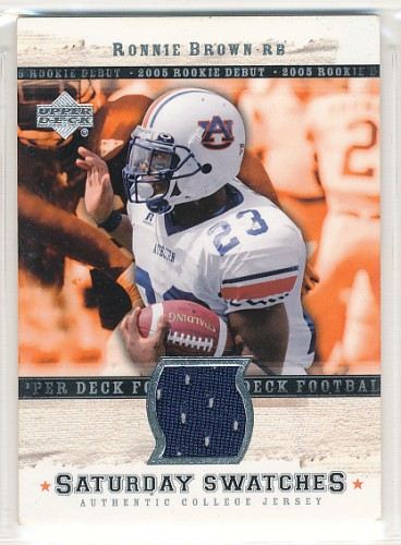 2005 UPPER DECK RONNIE BROWN JERSEY CARD #SA-RB
