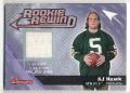 2006 TOPPS BOWMAN AJ HAWK RC JERSEY CARD  #BRR-AH