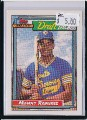 1992 TOPPS MANNY RAMIREZ MAJOR LEAGUE DRAFT PICK ROOKIE CARD #156.jpeg