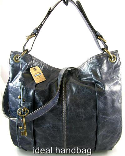 FOSSIL LEATHER LOLA NAVY BLUE