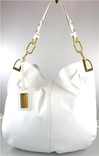 BADGLEY MISCHKA GAIA WHITE LEATHER HOBO BAG - IdealHandbag
