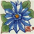 Mexican Tile blue flower