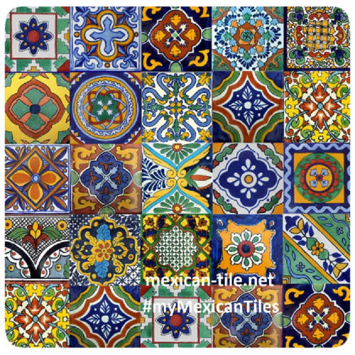 mixed mexican tile patterns