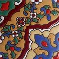 Handmade Relief Tile Colorful Flowers