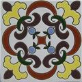 Hand Painted Relief Tile Crown