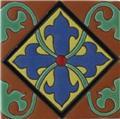 Handmade Relief Tile Alcantara Cross