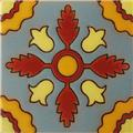 Hand Painted Relief Tile Beautiful Heliconia