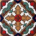 Handmade Relief Tile Colorful Fleur of Lis