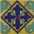Handmade Relief Tile Cross Lily
