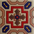 Hand Painted Relief Tile Cardinal Red Cross