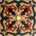 Hand Painted Relief Tile Corina