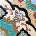Handmade Relief Tile Azalea Flower