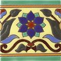 Handmade Relief Tiles Chrysanthemum Flower