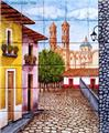 spanish kitchen tile mural